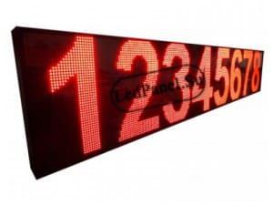 Бегущая строка 40x424 см, красное свечение
