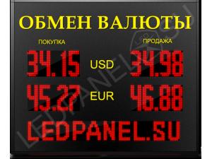 Электронное табло валют LP-150x16-STR.