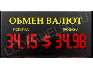 Табло валют Москва LP-150x8-CN