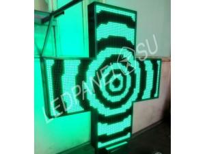 Аптечный крест зеленый большой