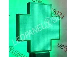 LED аптечный крест зеленый средний
