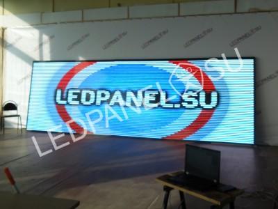 Видео табло рекламное 88х360 см, p10
