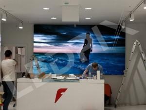 Большой видеоэкран Р4 на новом арбате 2х3.5 метра